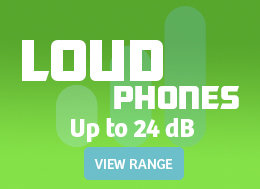 Shop Our Loud Phones with Handset Volumes up to 24 Decibels
