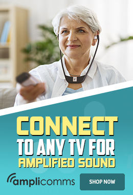 The Amplicomms TV3500 TV Listening Headset provides amplified sound from any TV