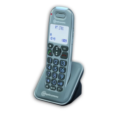 PowerTel 1701 Additional Handset for Amplicomms PowerTel 1700 Amplified Cordless Telephone