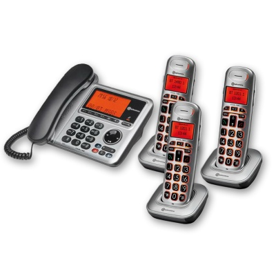 Amplicomms BigTel 1483 Amplified Desk Phone with Three Extra Handsets