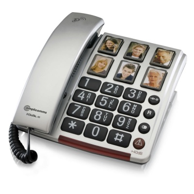 Amplicomms BigTel 40 Plus Big Button Amplified Corded Telephone with Photo Buttons