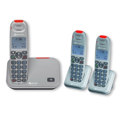Amplicomms PowerTel 2703 Amplified Cordless Telephone with Two Extra Handsets