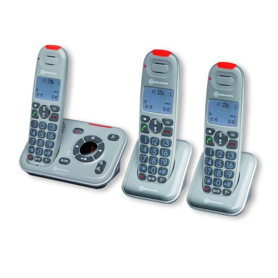 Amplicomms PowerTel 2783 Amplified Cordless Telephone with Two Extra Handsets