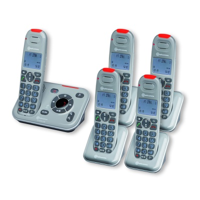 Amplicomms PowerTel 2785 Amplified Cordless Telephone with Four Extra Handsets