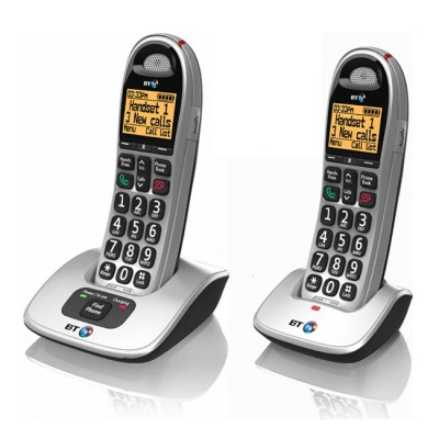 BT BT4000 Big Button Twin Amplified Cordless Telephones