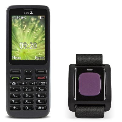 Doro 5516 Mobile Phone for the Hard of Hearing with Alarm Trigger 3800