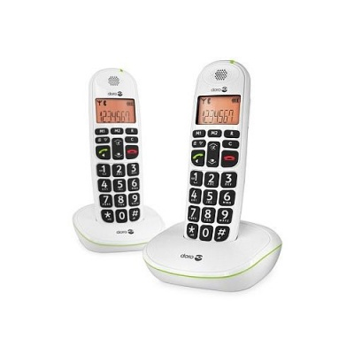 Doro PhoneEasy 100w Cordless Amplified Telephone Dual Pack