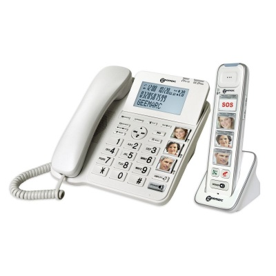 Geemarc AmpliDECT 295 Combi Photo Amplified Corded and Cordless Phone Combination with Answering Machine
