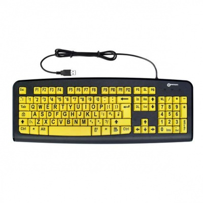 Geemarc Standard Keyboard with Large Yellow Keys