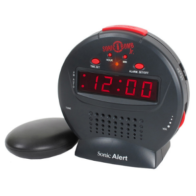 Sonic Bomb Junior Extra-Loud Alarm Clock with Shaker Pad