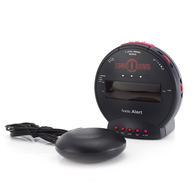 Sonic Bomb Alarm Clock with Shaker