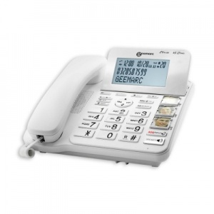 Geemarc CL595 Big Button Corded Phone with Answering Machine