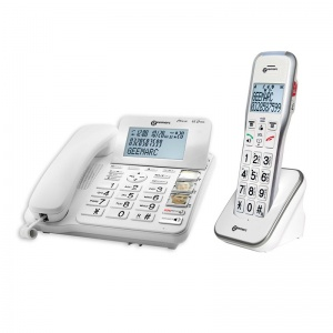 Geemarc CL595 Big Button Corded Photophone with Answering Machine and Extra Cordless Handset