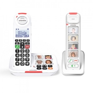 Swissvoice Xtra 2155 Amplified Cordless Phone with Extra Photo Handset, Doorbell and Ringer