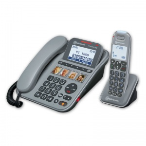 Amplicomms PowerTel 1880 Amplified Cordless and Corded Telephone Combo