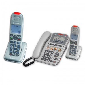 Amplicomms PowerTel 2880 Amplified Telephone with Two Extra Handsets