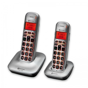 Amplicomms BigTel 1202 Big Button Amplified Cordless Telephones Twin Set