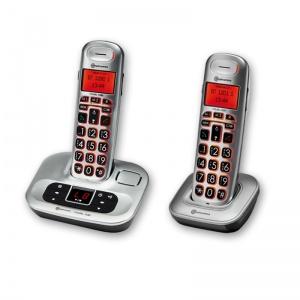 Amplicomms BigTel 1282 Big Button Amplified Cordless Telephones Twin Set