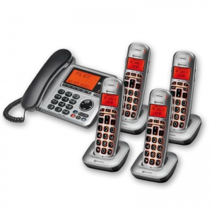 Amplicomms BigTel 1484 Amplified Desk Phone with Four Extra Handsets