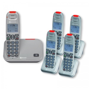 Amplicomms PowerTel 2705 Amplified Cordless Telephone with Four Extra Handsets