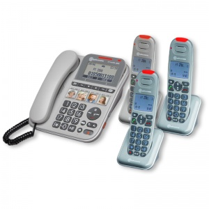 Amplicomms PowerTel 2883 Amplified Telephone with Three Cordless Handsets