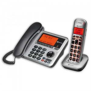 Amplicomms BigTel 1480 Cordless Phone and Desk Unit with Answering Machine