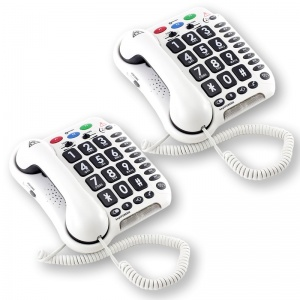 Geemarc Amplipower 50 Amplified Telephone Twin Pack