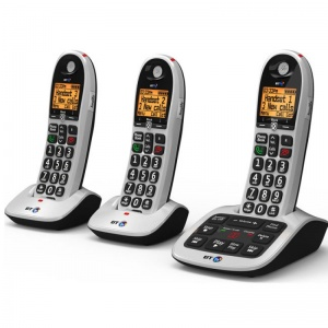 BT BT4600 Big Button Cordless Telephones with Answer Machines (Triple Pack)