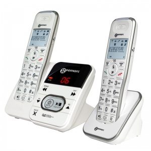 Geemarc AmpliDECT 295 Amplified Cordless Telephone with Answering Machine Twin Pack