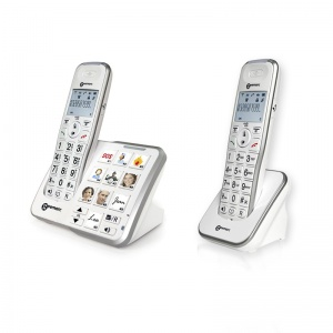 Geemarc AmpliDECT 295 Photo Amplified Cordless Telephone with Answering Machine Twin Pack