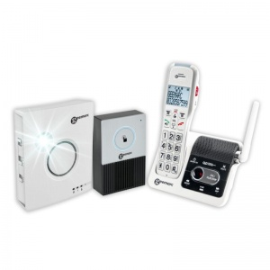 Geemarc AmpliDECT 595 Ultra Low Energy Amplified Cordless Phone with Ringer and Doorbell