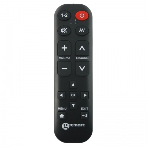Geemarc Easy TV15 TV Remote with 15 Buttons