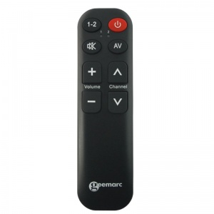 Geemarc Easy TV5 TV Remote with 8 Buttons