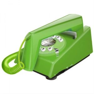 Geemarc Green Trimline Retro Corded Telephone