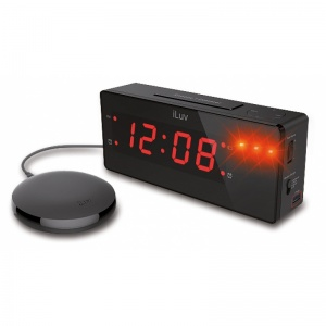 iLuv Timeshaker Digital Alarm Clock with Vibrating Pad for the Hard of Hearing