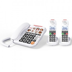 Swissvoice Xtra 3155 Corded Amplified Telephone with Two Extra Handsets