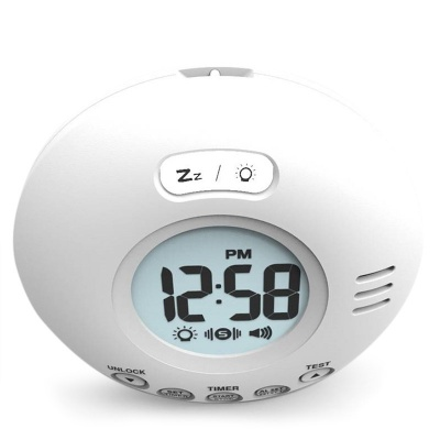 Geemarc Wake N Shake Voyager Extra Loud Travel Alarm Clock with Vibration